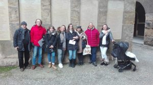 Besucher der Gedenkstätte